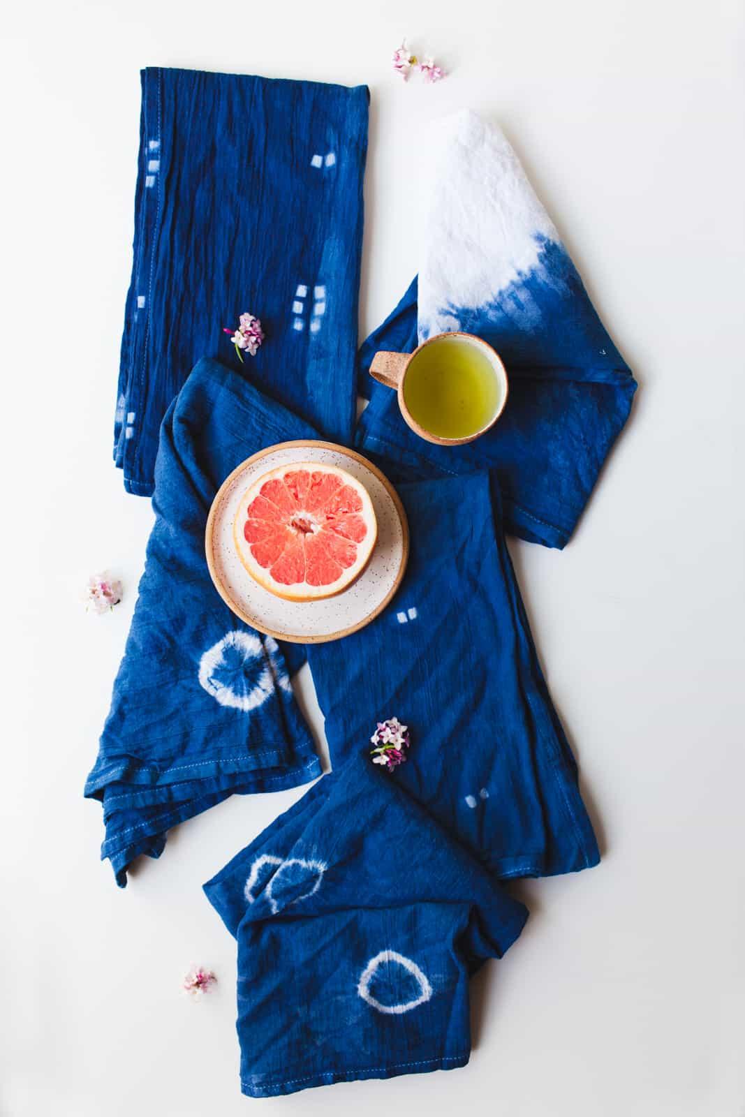 Azul forte e marcante para os guardanapos