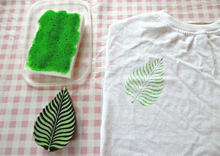 Pintura em tecido: carimbo caseiro para aplicar em camisetas e outras peças de roupa