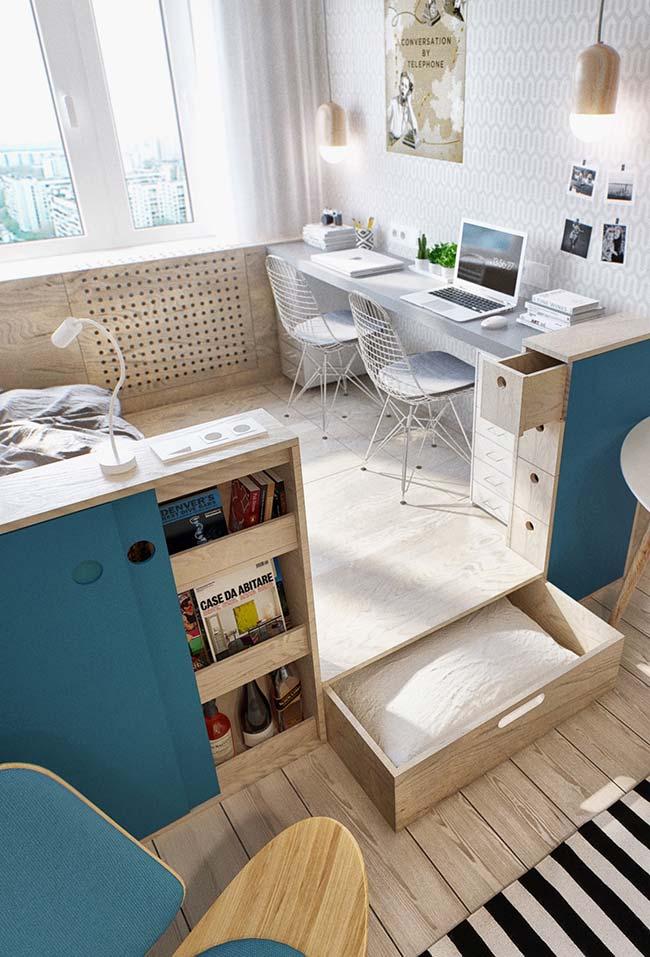 Nenhum espaço se perde, todos se aproveitam: esse é o principio dos móveis planejados