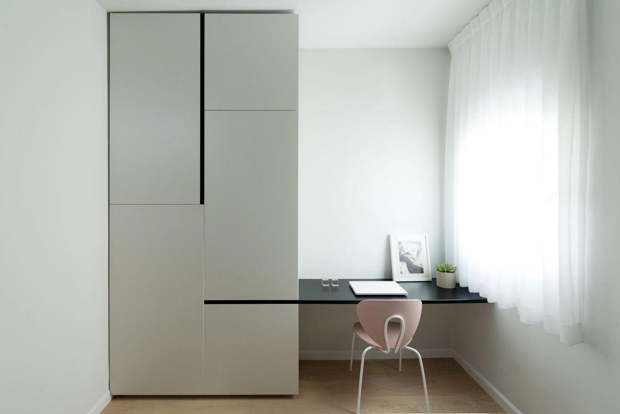 Móvel planejado de linhas modernas e estilo minimalista