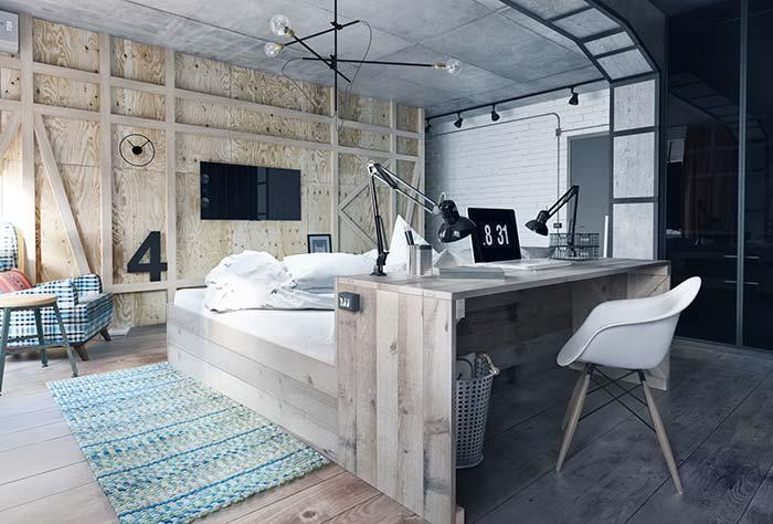 Estilo rústico também é possível de ser conquistado com os móveis planejados