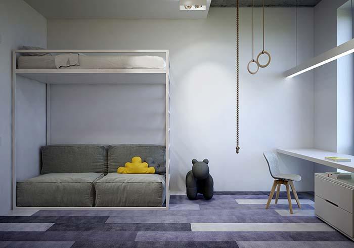 Cores de tintas: as paredes brancas deixam esse quartinho de bebê neutro, clean e suave