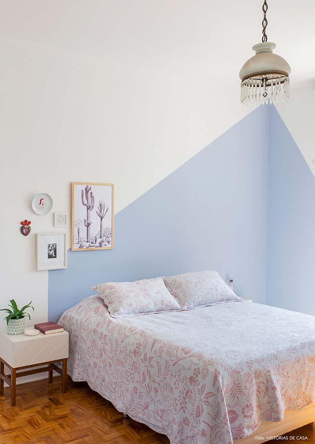 Toda tranquilidade que só o tom de lavanda, uma das nuances mais delicadas do roxo, pode trazer para o quarto