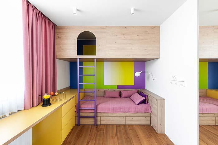 Quase chegando ao amarelo: esse verde quente é ideal para propostas de decoração infanto juvenil