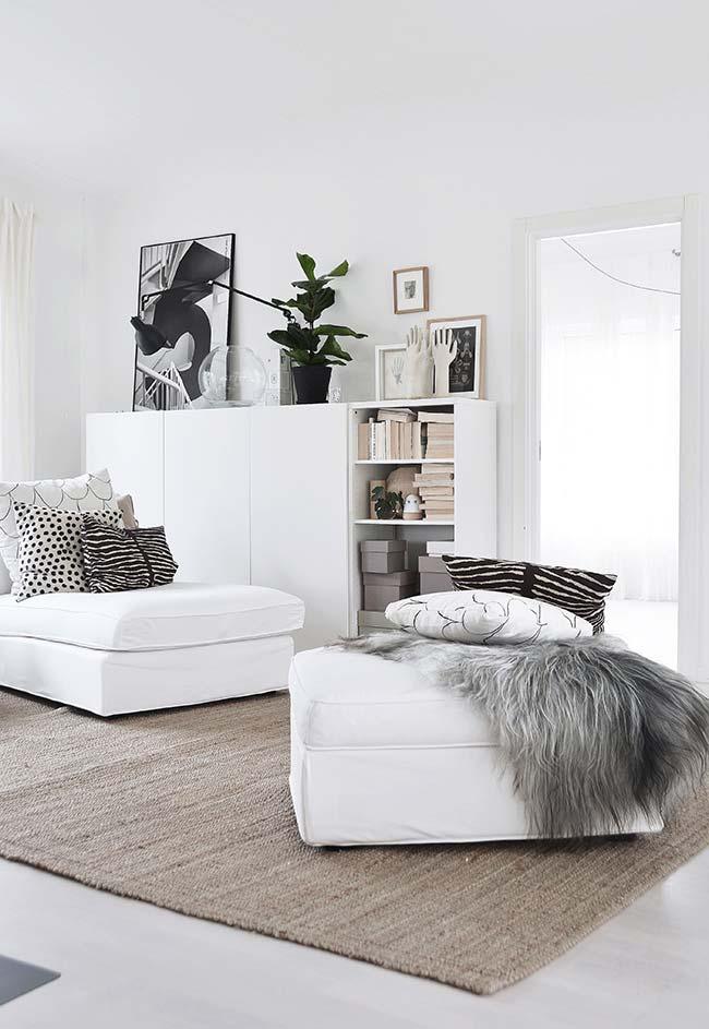 A juta também pode ser inserida em decorações de estilo moderno