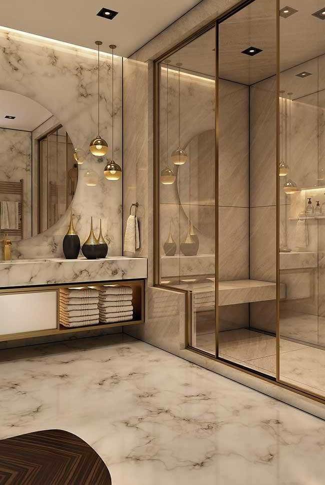 Banheiro spa sofisticado