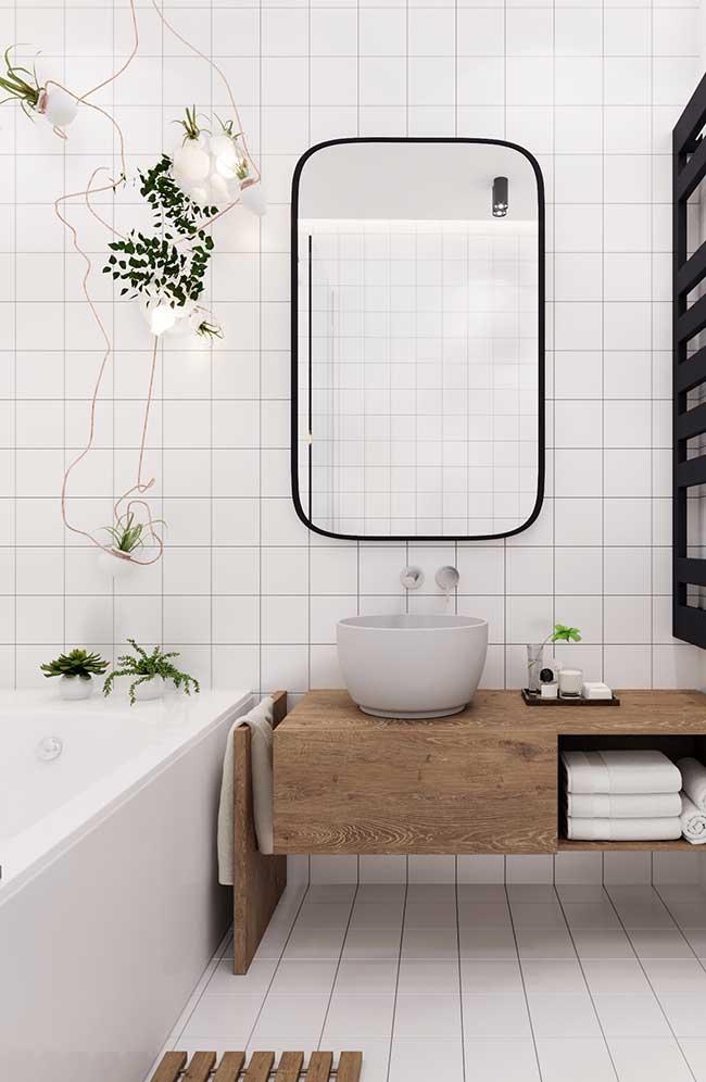 Banheiro spa e estilo escandinavo