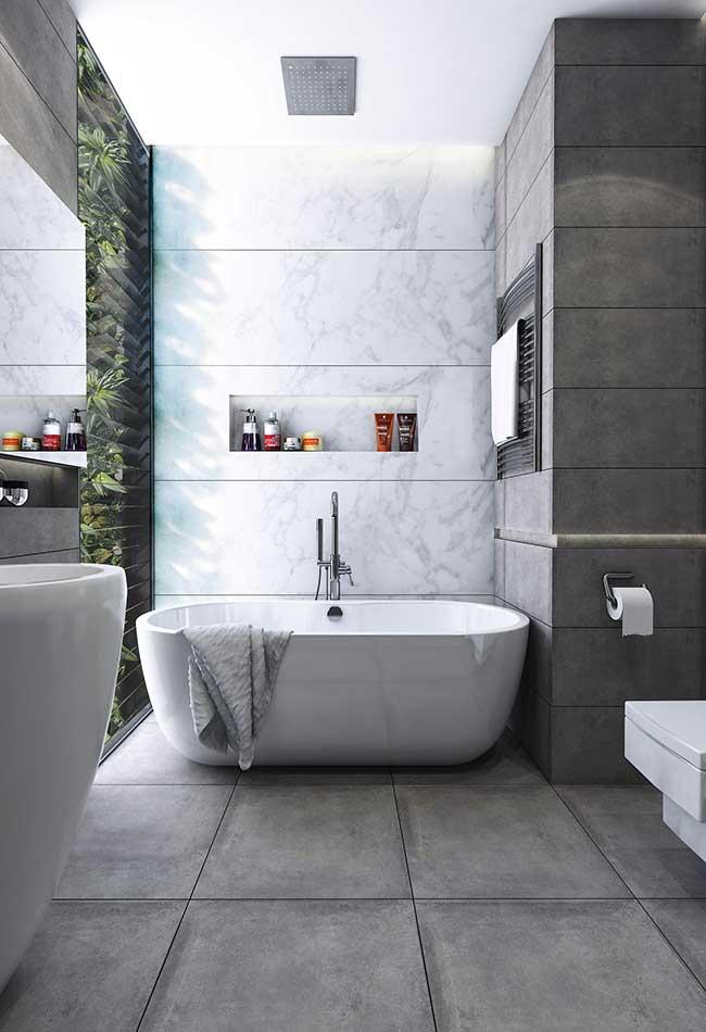 Banheiro spa com banheira