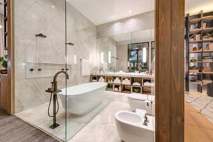 Lembre-se que organização é tudo em um banheiro spa