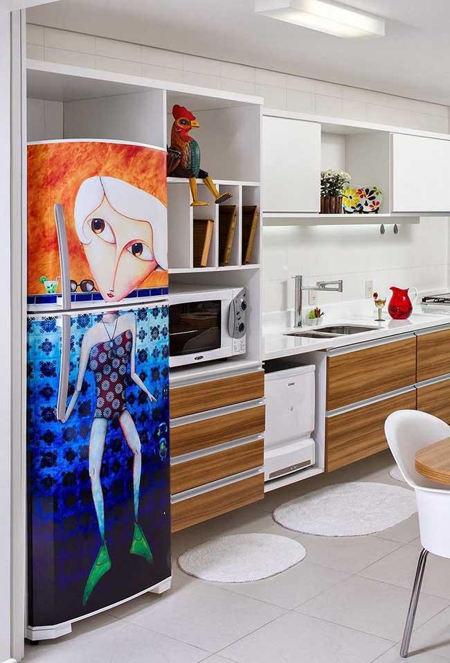 Ilustração no envelopamento de geladeira
