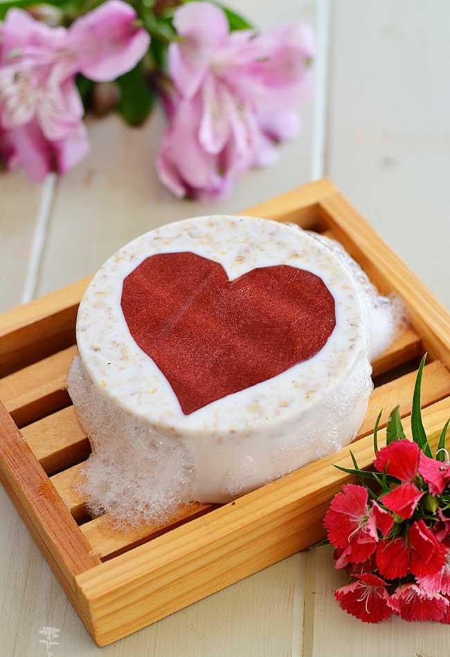 Sabonete decorado para os apaixonados
