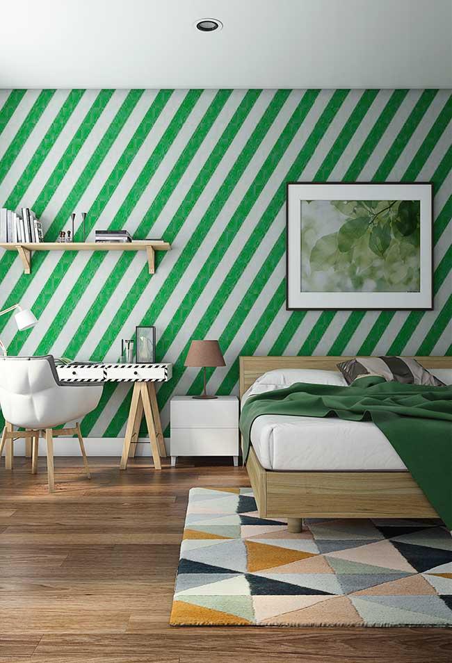 Parede verde moderna