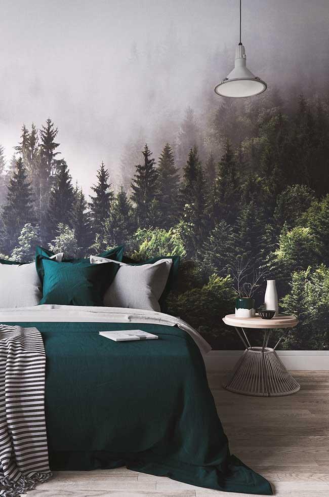 Parede verde paisagem