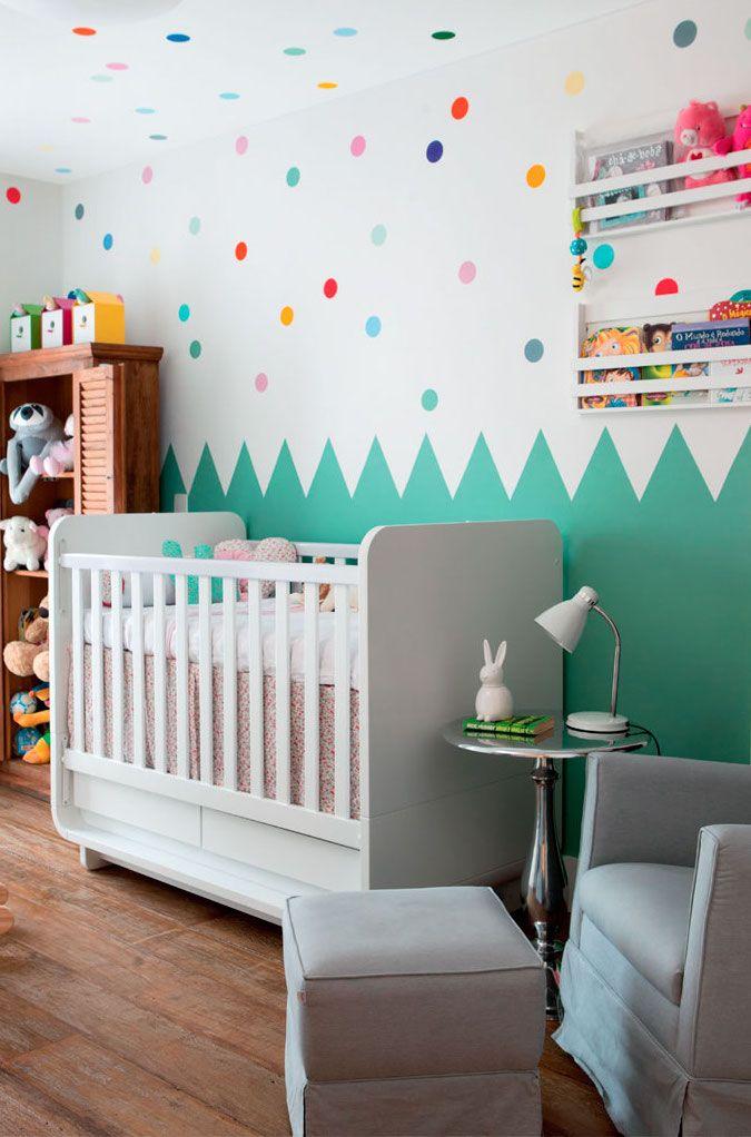 Parede verde quarto de bebê