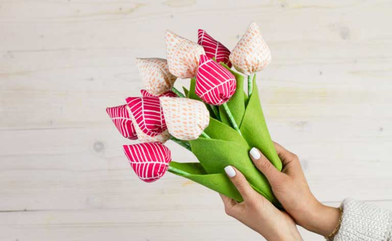 Usos da tulipa de tecido