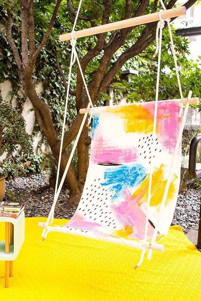Cadeira suspensa para jardim