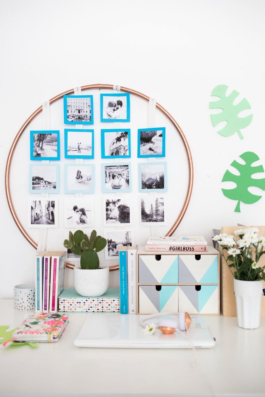 Faça um mural de fotos usando EVA e um arco