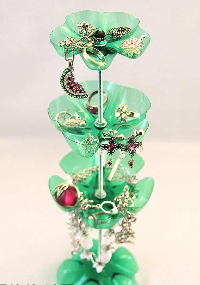 artesanato reciclável com garrafa pet