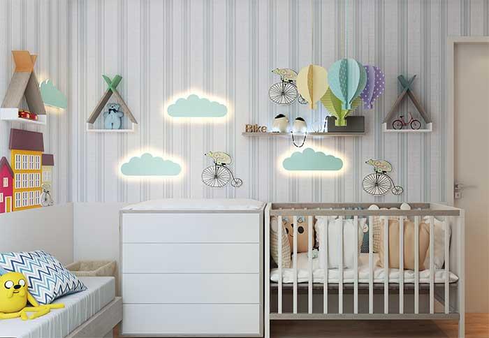 Criatividade na hora de utilizar a fita de LED no quarto infantil