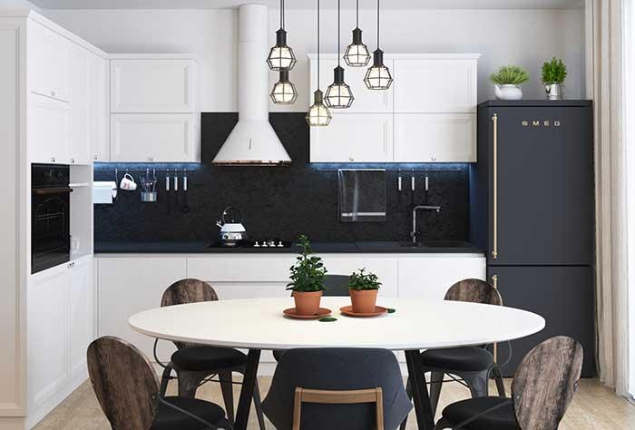 Fita de LED na cozinha