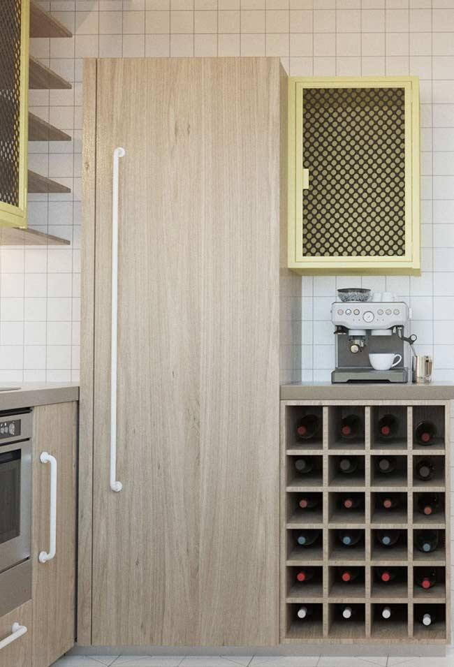 Nichos na cozinha para organizar garrafas