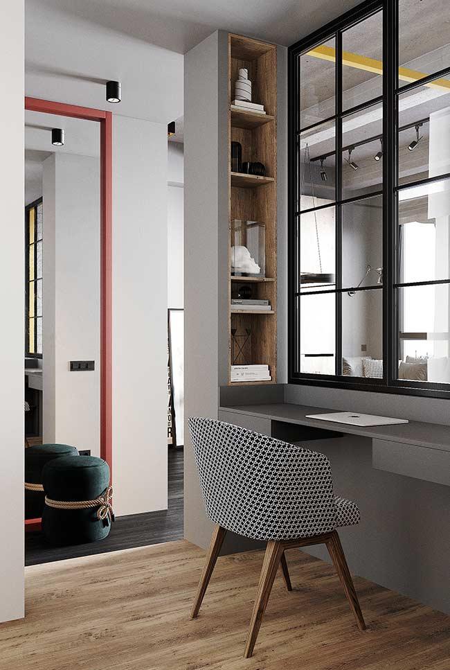 Nichos para delimitar o espaço do home office