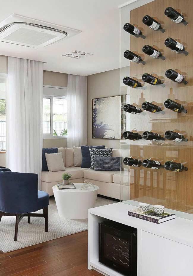 Uma proposta criativa e original para expor suas garrafas de vinho