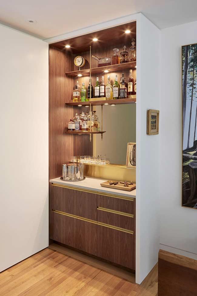 Barzinho Para Sala Dicas Para Montar e 60 Ideias Criativas -> Decoração De Home Bar