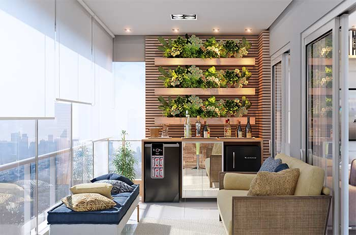 jardim vertical com bar
