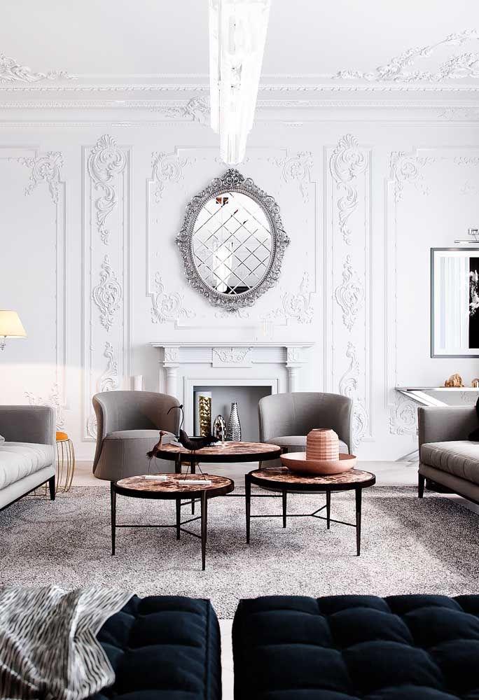 Espelho para sala com decoração clássica