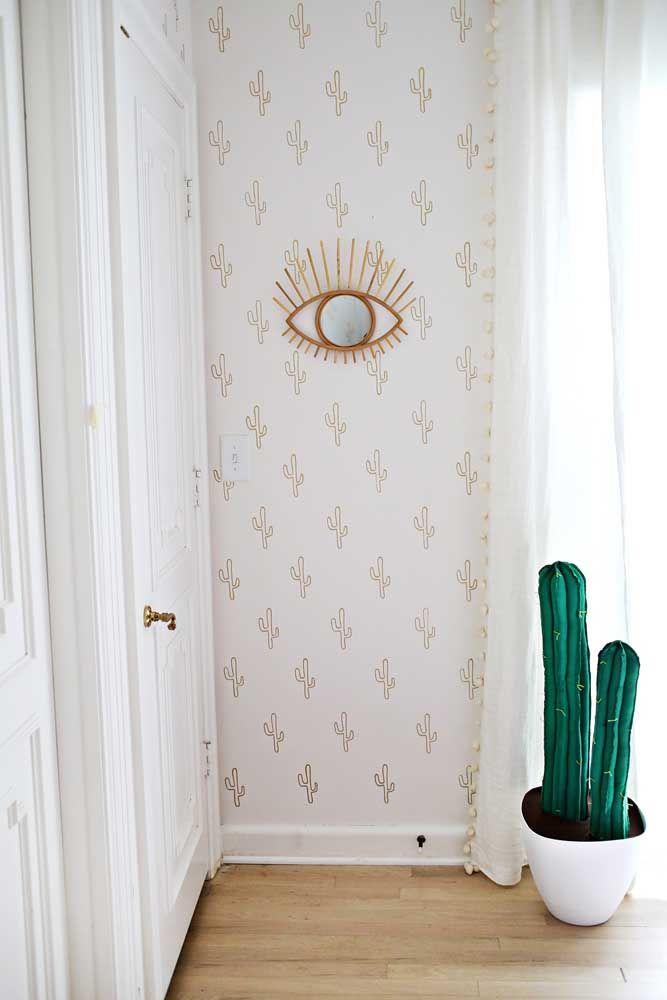 Espelho para sala em formato de olho