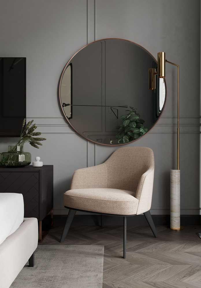 Cantinho especial com espelho para sala