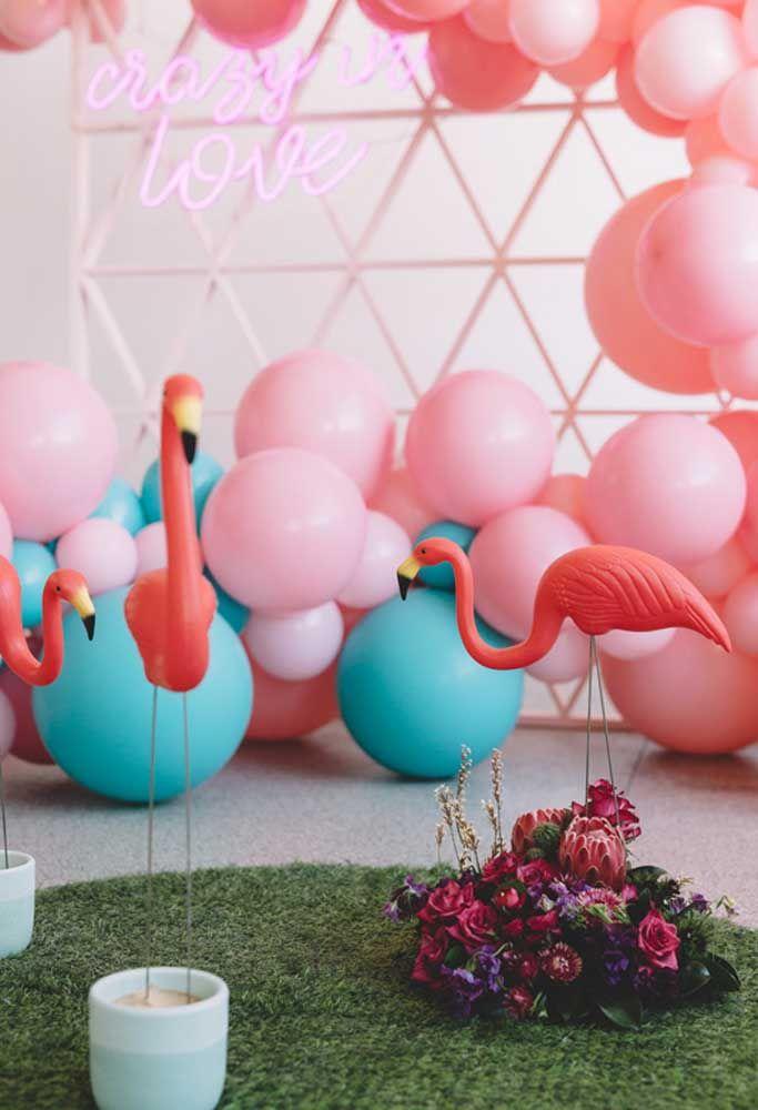 Artigos de festa flamingo: