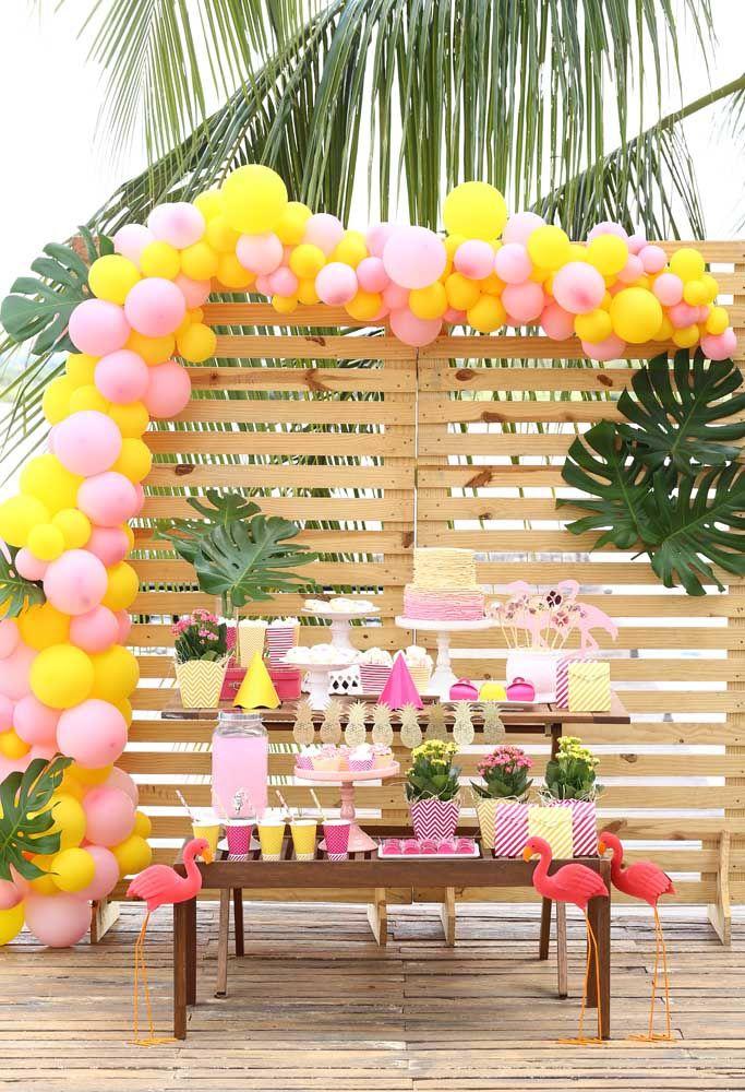 Festa flamingo e abacaxi DIY