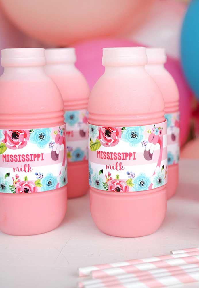 Bebidas para festa flamingo