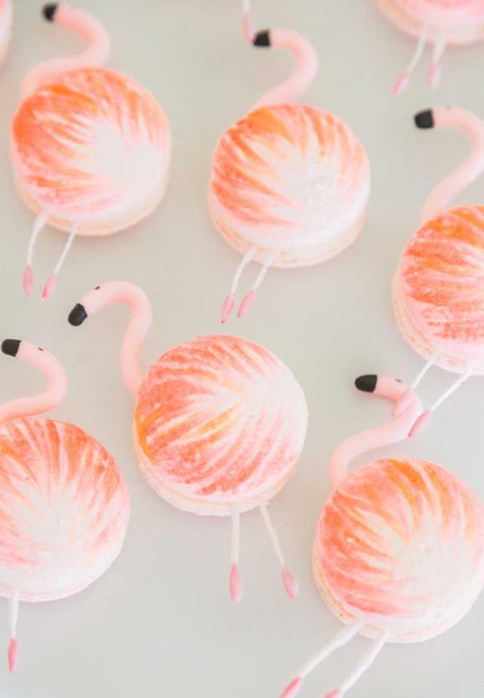 Macaron rosa flamingo