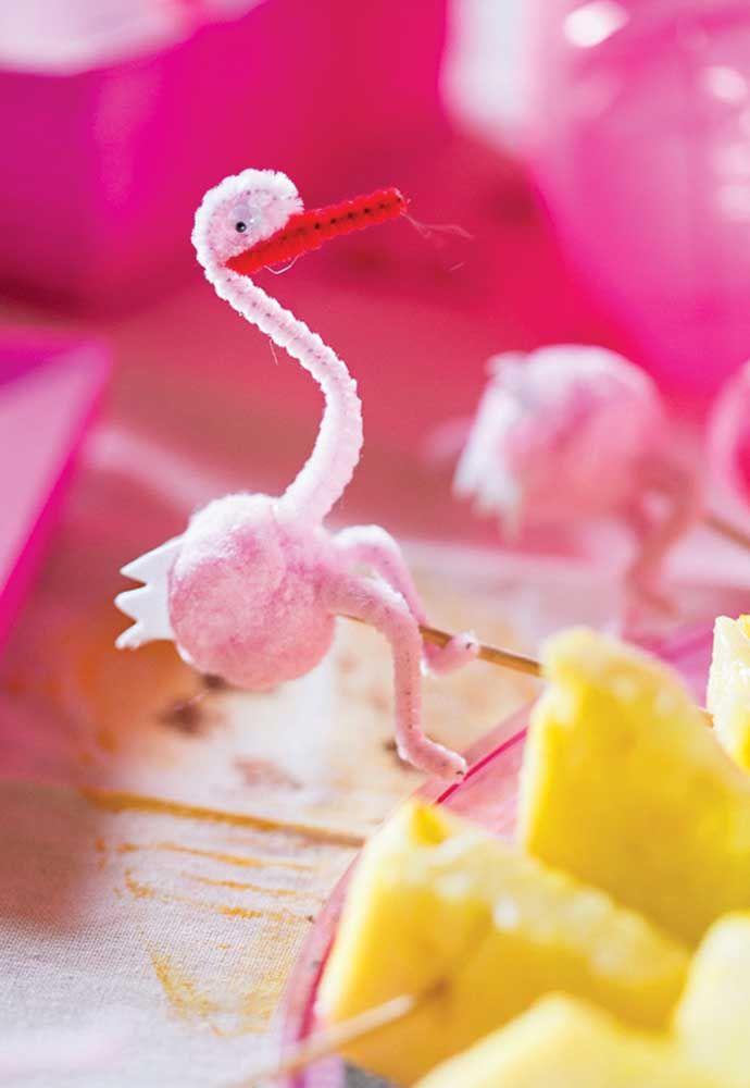 Decoração DIY flamingo