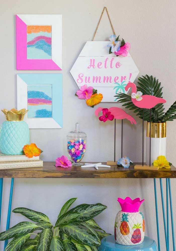 Use elementos cotidianos também na decoração da sua festa