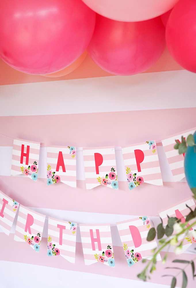 Muitos tons de rosa para a sua festa ficar ainda mais fofa e divertida