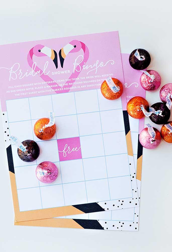 Bingo para sua festa flamingo