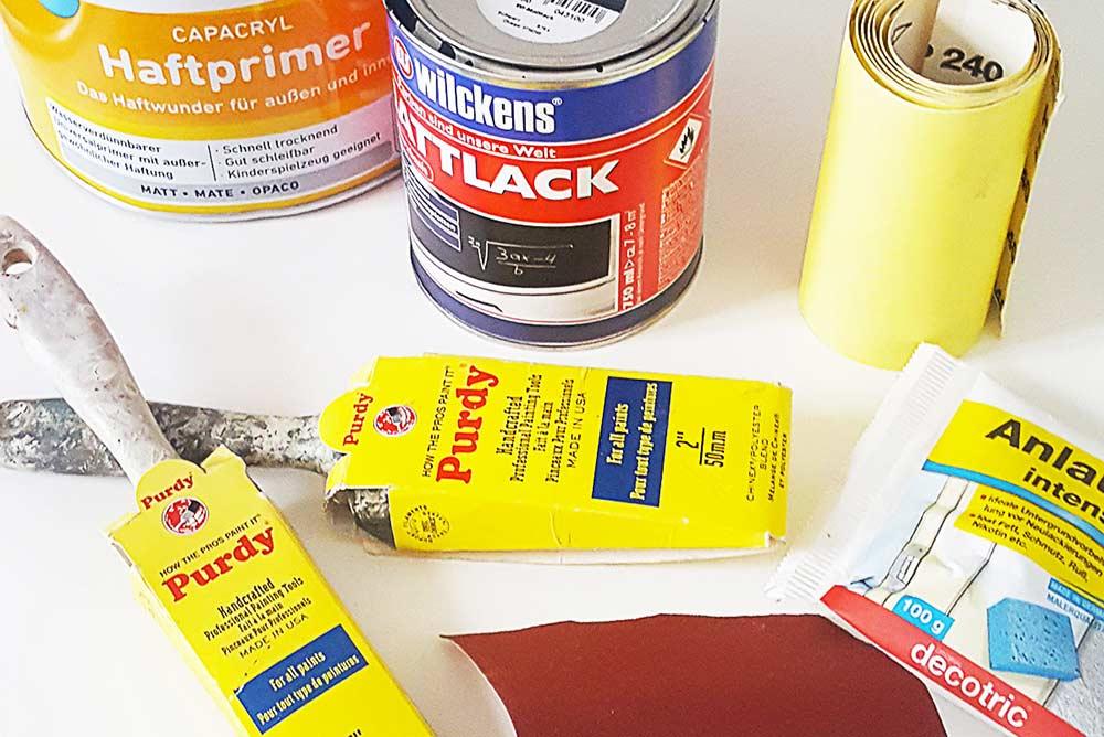 Materiais necessários para pintar geladeira