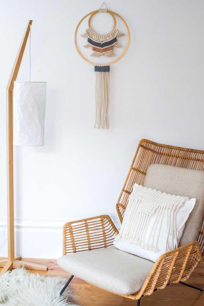 Tons de madeira que combinam: seu lugar de descanso e um filtro dos sonhos