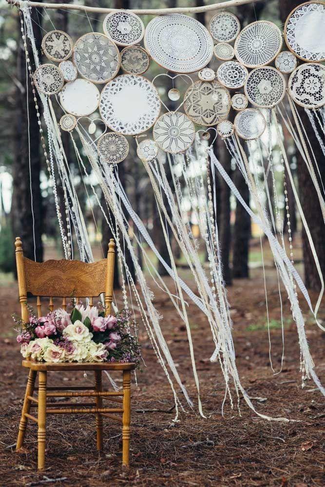 Varal de filtro dos sonhos para decorar sua festa de casamento