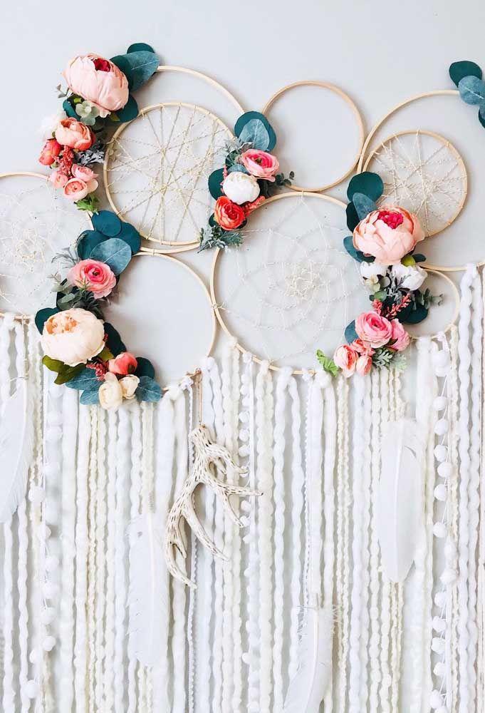 Filtro dos sonhos com flores coloridas