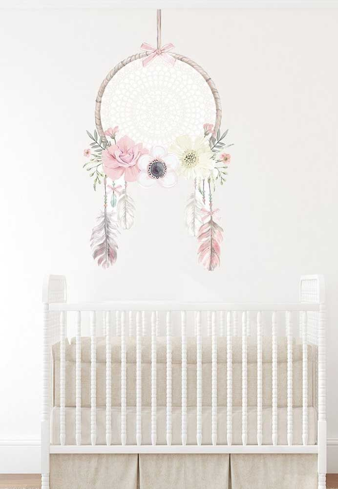 Pintura de filtro dos sonhos grande para o quarto do bebê
