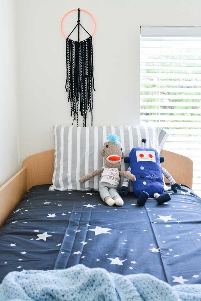 Para quarto de menino também: um lindo filtro dos sonhos na cor preta