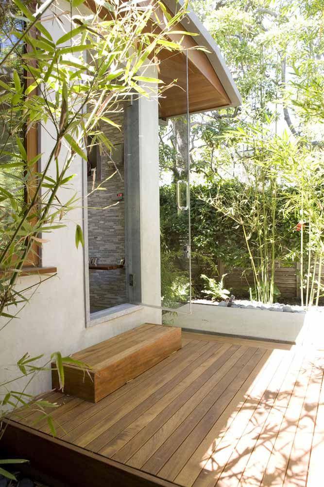 Piso de madeira e bambu mossô
