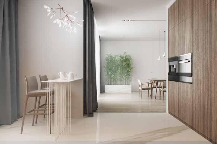 Os bambus mossôs são uma ótima pedida para propostas modernas e minimalistas de decoração