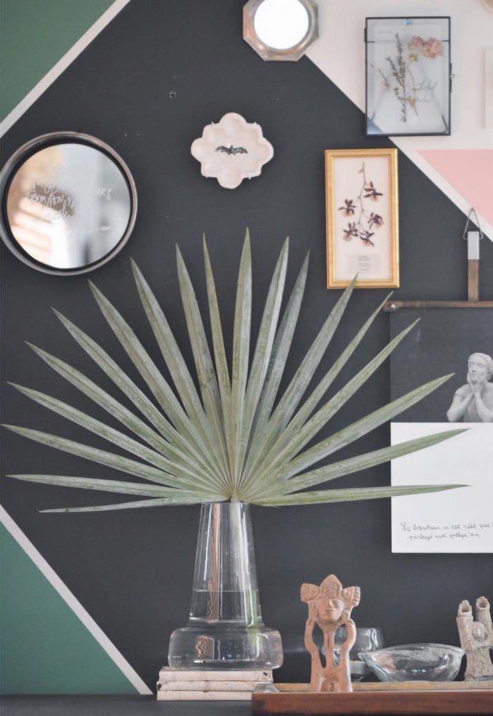 Com apenas uma folhinha, a palmeira azul que está lá no jardim já pode contribuir com a decor interior