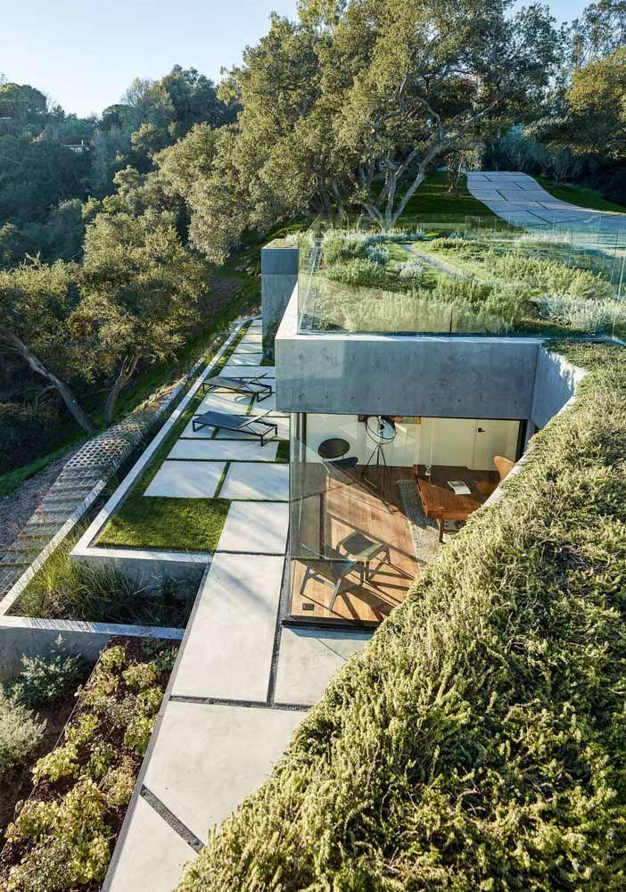 O conceito de telhado verde vai muito além dos telhados convencionais